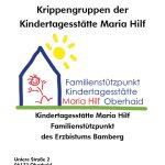 """Deckblatt der Info-Broschüre """"Infos für Krippeneltern"""""""